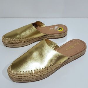 Sam Edelman Gold Esparille Slip On Sandals sz 9
